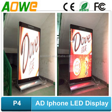 Iphone P4 LED display for customized standing LED message sign