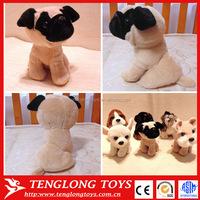 The simulation plush dog toys stuffed pug