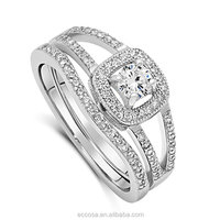 Factory direct sales men's diamond ring ring 925 ring mounts without stones