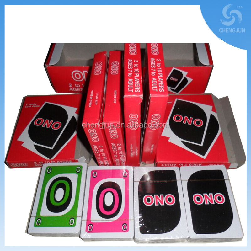 2015 hot sell ONO 230g paper playing cards