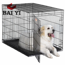 Black Dog Cage Crate Suitcase Folding Animal Kennel