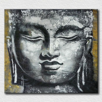 High Quality Hand Painted 3D Buddha Painting for Home