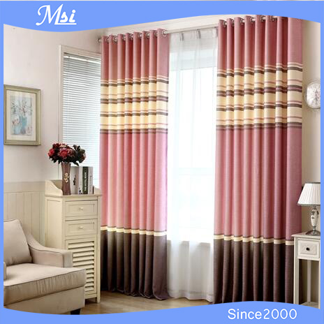 Polyester Fabric Window Curtain Plain Blackout Curtain