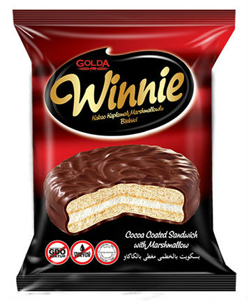Winnie Cocoa Coated Marshmallow Biscuit 6x24x30g