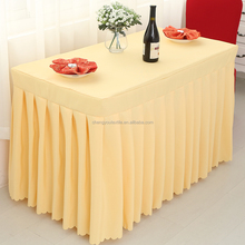 Light Yellow Table Cloth and Table Skirts for Exhibition