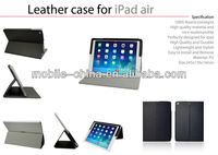Leisure Style Leather Case For iPad air 5 luxurious Cover with Stand Function, remax leather case for ipad air