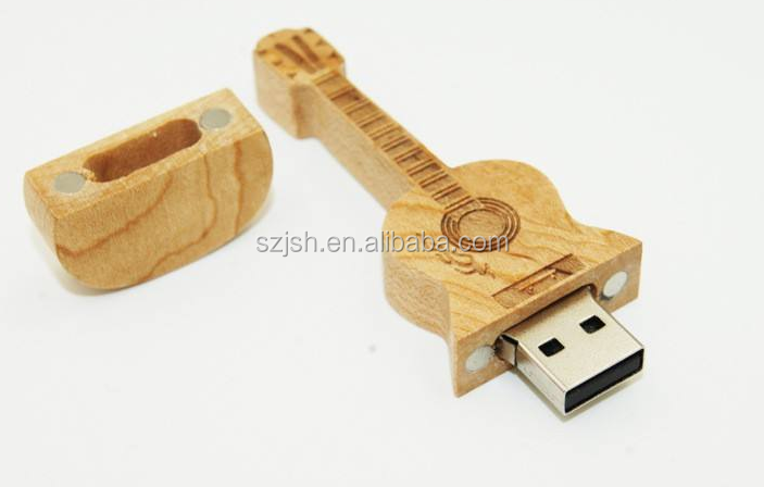 Promotional gifts Classical full capacity 2GB 4GB 8GB wooden Guitar shape usb flash drive usb 2.0