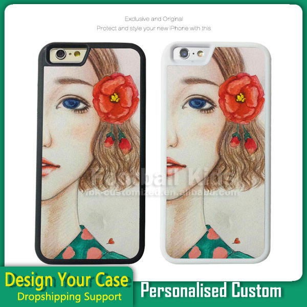 2016 Customized 2D Sublimation Rubber Phone Case For Iphone 7,DIY Silicon TPU Phone Cover