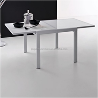 DT-3101 square glass extendable dining table
