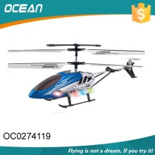 Hot sale 3ch toys metal free sample metal pro helicopter with light