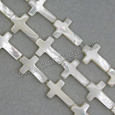 Mother of Pearl bead Cream White, Cross, Loose Beads Pearls Freshwater
