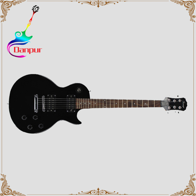 Danpur flat top lp style black color jazz guitar electric from china