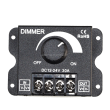 LED Dimmer 12V 24V 30A dimmer MAX Black Shell led dimmer