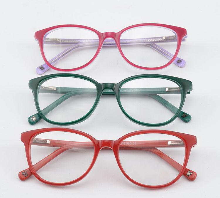 Acetate Kids Glasses Frame Cute Design Myopia Optical Eyeglass ...