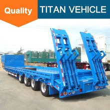 Titan cheap 4 axles 100 ton heavy haul tractor front load neck low bed trailer for sale south Africa