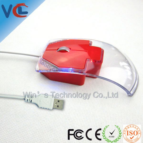 Wired Optical Usb Transparent Mouse Computer