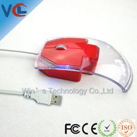 Wired optical usb transparent mouse computer hardware software