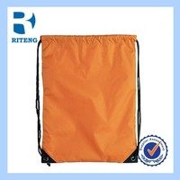 promotional portable polyester drawstring bag