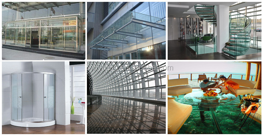 shandong yujing best selling toughened/ tempered glass for building glass factory