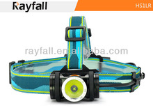 Rayfall Hot Sale headlingt HS1LR,CREE XP-G R5 cool white LED mining headlamp,rechargeable headlight