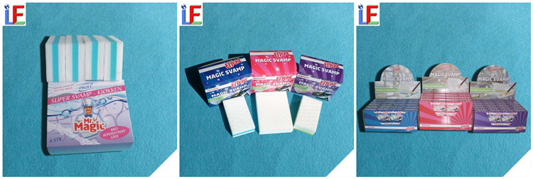OEM Kitchen Magic Sponge Eraser Super Clean Melamine Sponge esponja limpeza