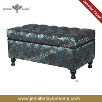 living room furniture Microfiber Upholstered Tufted Padded Hinged Storage Ottoman Bench