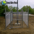 Cheap galvanized coated chain link fence
