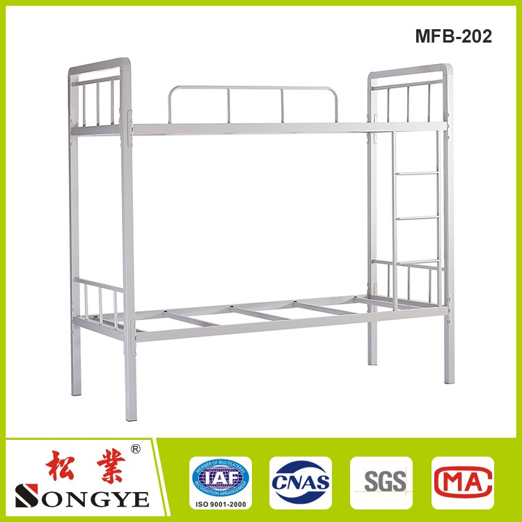 double decker metal bunk beds/dormitory beds detachable for military,school,home