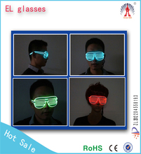 Fashionable crazy shutter shade glasses,luminous/fluorescent EL wire party