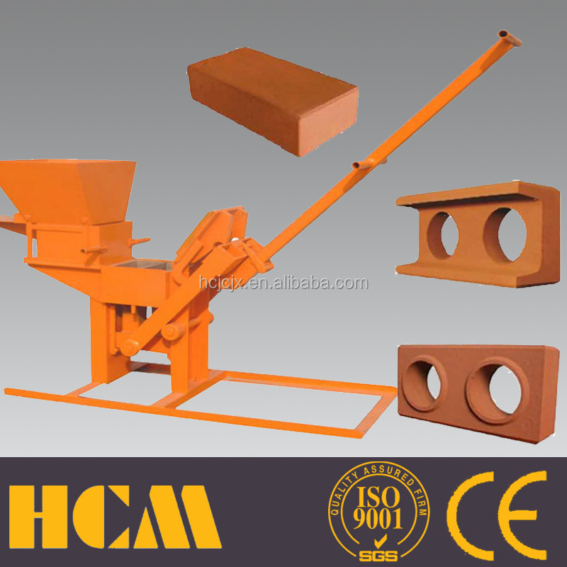 hand press/manual interlocking stabilized soil brick making machine QMR2-40