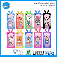 Cute ears universal mobile phone silicone rabbit bumper case