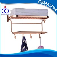 chrome finished stainless steel wall-mounted towel rack with towel rail