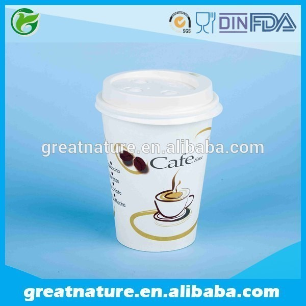 Custom hot drink disposable 100% biodegradable coffee cups