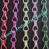 TNT or DHL Free Shipping 1000m/Lot Double Hook Aluminum Chain Curtain