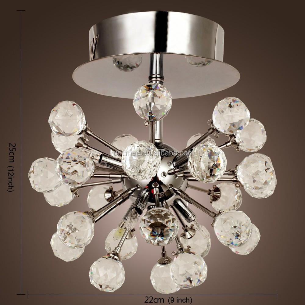 K9 lampadario di cristallo con 6 luci in forma globe mini lampadari in stile moderno plafoniera - Lampadario camera da letto prezzo ...
