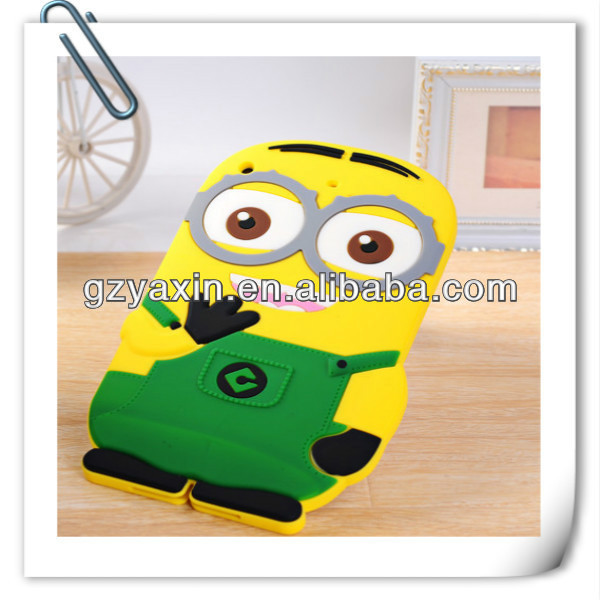 Minion case for samsung galaxy s3 mini,Silicon minion case for ipad 2 3 4