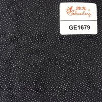 Garment 100 polyester woven fusible interlining fabric for men'suits GE1679