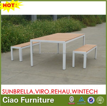 all weather outdoor PS WOOD top table benches