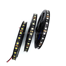 LED Strip Black PCB Board SMD 5050 5m roll 300leds DC12V IP65 Waterproof White/Red/Blue Flexible LED Strip for Home Decoration