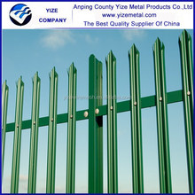 2015 Design steel palisade fence galvanized steel palisade fence/palisade euro fence (Direct Factory)