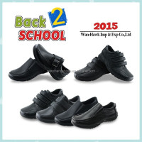 Hot black children boy school shoes action leather shoes