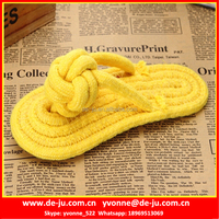 Yellow Cotton Strip Lifelike Cat Plush Toy