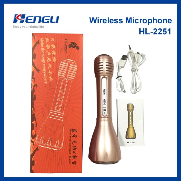 China supplier Karaoke Microphone Betooth for Smart Phone