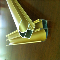 New Building Materials Curved Polished Plastic Extrusion Types of Aluminium for windows and doors from qingdao factory