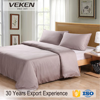 Veken products 1200tcn 80sx120s plain dyed egyptian cotton bed sheets