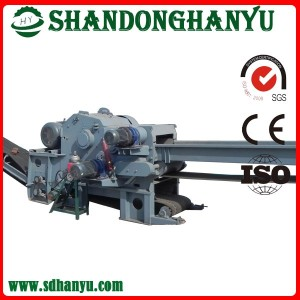 Large capacity Drum wood chipper machine for cutting small log, timber felling