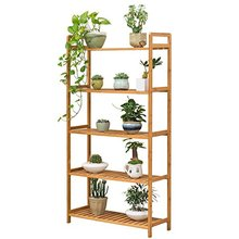 Light Flower Stand Shelf 5 Layer Solid Wood Flower Display Shelf Balcony Living Room Multi Storey Wooden Flower Pot Rack