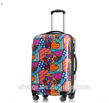 Nice style hard plastic trolley suitcase/printing luggage for girls