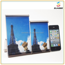 100% new material factory low price eye-catching curved acrylic collage photo frame with picture insert