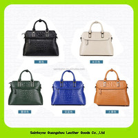 2016 Trending new product wholesale price ladies brand bags genuine crocodile skin leather handbags made in China